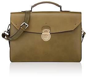 Boldrini Selleria Men's Structured Briefcase - Green
