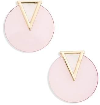 Lula Triangle & Circle Statement Earrings