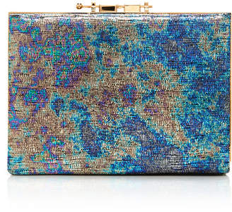 M2Malletier Holographic Leather Box Clutch