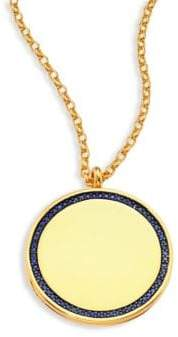 Astley Clarke Cosmos Large Blue Sapphire& 14K Yellow Gold Locket Necklace