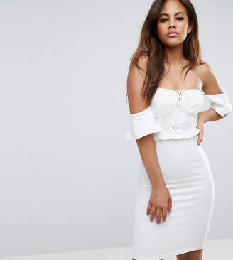 NaaNaa Tall Off Shoulder Corset Detail Mini Dress