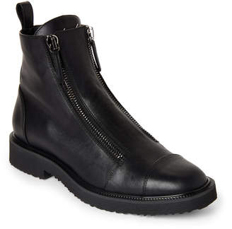 Giuseppe Zanotti Black Tyson Dual-Zip Leather Ankle Boots