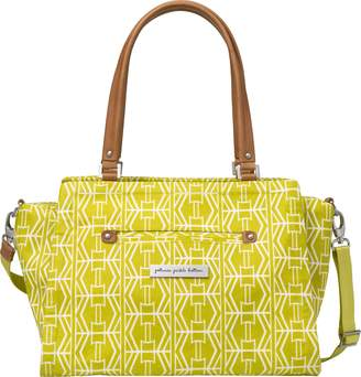 Petunia Pickle Bottom Statement Satchel Diaper Bag in Electric Citrus, Yellow