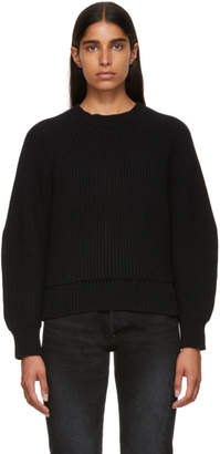 Alexander McQueen Black Cropped Crewneck Sweater