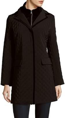Jane Post Women's Quilted Long Coat