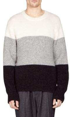 Ami Wool-Blend Color Block Sweater