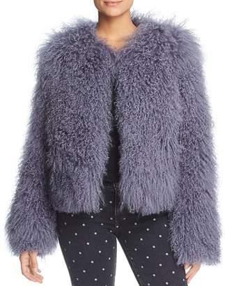 Maximilian Furs Tibetan Lamb Fur Coat