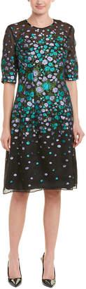 Lela Rose Silk-Blend Sheath Dress