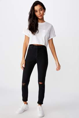 Supre Long Super Skinny Ripped Jean