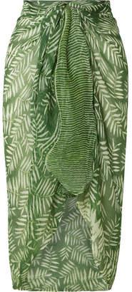 Cloe Cassandro Printed Silk-crepon Pareo