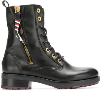 Tommy Hilfiger military ankle boots