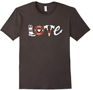 Firefighter Shirt- Love Firefighter Tee