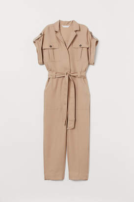 H&M Overall with Tie Belt - Beige