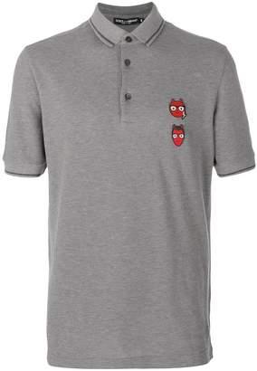 Dolce & Gabbana devil designers patch polo shirt