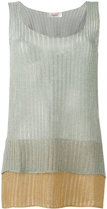 Jucca layered semi-sheer tank $141.50 thestylecure.com