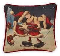 Disney Santa Mouse Holiday Throw Pillow