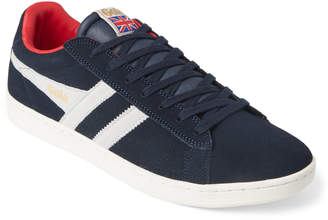 Gola Navy & White Equipe Suede Low-Top Sneakers