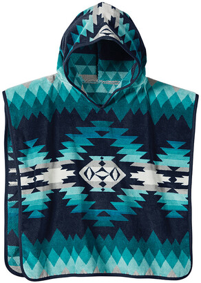 Pendleton Jacquard Hooded Children's Towel - Papago Park Turquoise