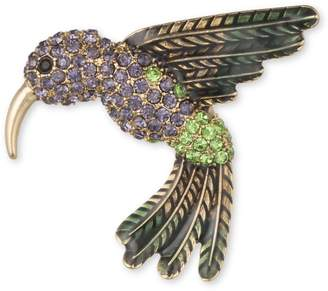 Anne Klein Faceted Hummingbird Brooch