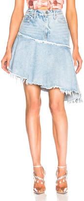 GRLFRND Monica Asymmetrical Ruffle Skirt