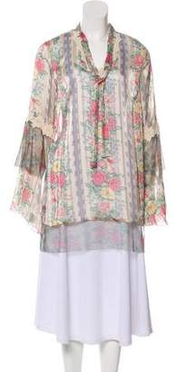 Anna Sui Floral Long Sleeve Blouse w/ Tags