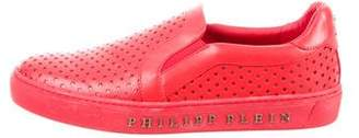 Philipp Plein Embossed Leather Sneakers