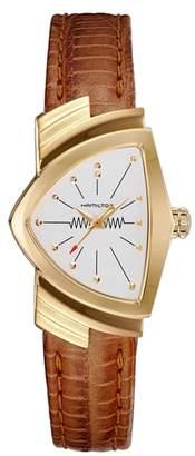 Hamilton Ventura Leather Strap Watch, 24mm x 36.5mm