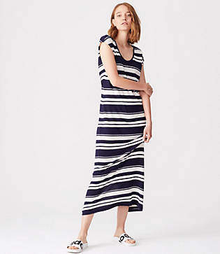 Lou & Grey Striped Maxi Tee Dress