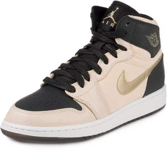 Jordan Nike Kids Air 1 Ret Hi Prem Hc Gg Prl Wht/Mtlc Gld Str/Blk/White Basketball Shoe 7 Kids US