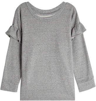 Current/Elliott Sweatshirt with Ruffled Trims