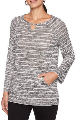 RUBY RD Marled Stripe Top