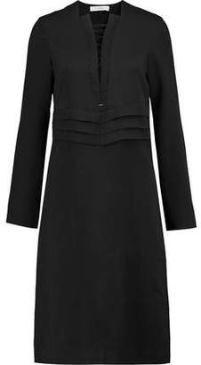 IRO Payda Lace-Up Pleated Crepe Dress