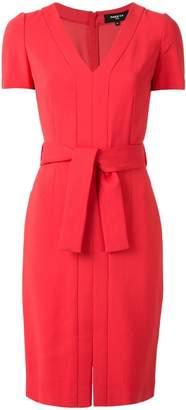 Paule Ka waist-tied fitted dress