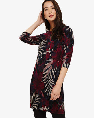 Phase Eight Pollie Palm Jacquard Tunic Dress