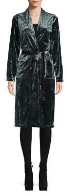 Caara Velvet Wrap Coat