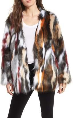 Somedays Lovin Wildflower Faux Fur Jacket