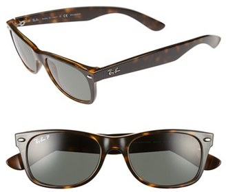 Women's Ray-Ban Small New Wayfarer 52Mm Polarized Sunglasses - Tortoise $190 thestylecure.com