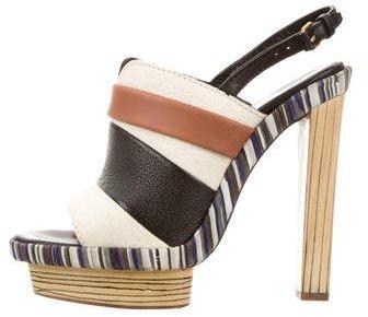 Balenciaga Balenciaga Striped Platform Sandals