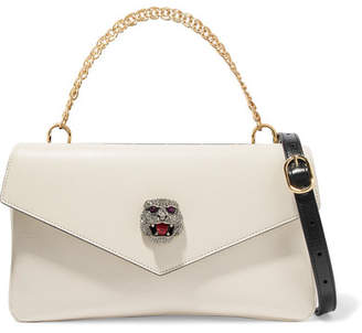 d8d0021bc71 Gucci Thiara Embellished Printed Leather Shoulder Bag - White
