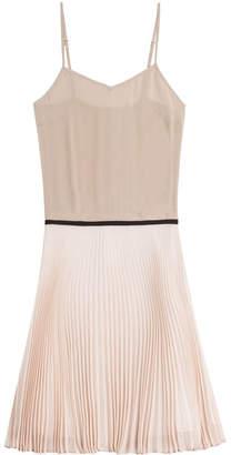 Victoria Beckham Victoria Silk Dress with Pleated Skirt