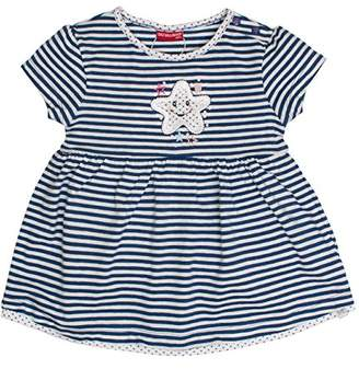 Salt&Pepper Salt and Pepper Baby Girls' B Dress Summer Stripe Cornflower Blue Melange 465
