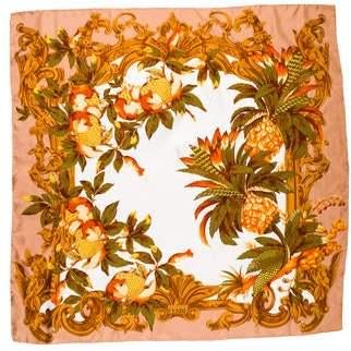 Gianfranco Ferre Printed Silk Square Scarf
