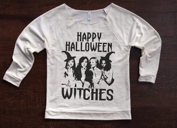 Etsy Happy Halloween Witches sweater. Halloween party top Shirt. Halloween Funny Halloween. Friday the 13