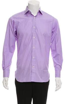 Ralph Lauren Purple Label Striped Button-Up Shirt