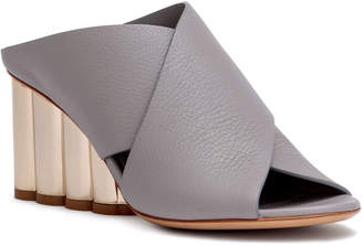Salvatore Ferragamo Lasa 70 grey leather sandals