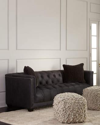 Bernhardt Paxton Tufted Leather Sofa