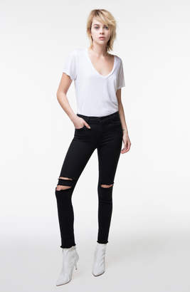 8227 Ankle Mid-Rise Skinny In Black Mercy