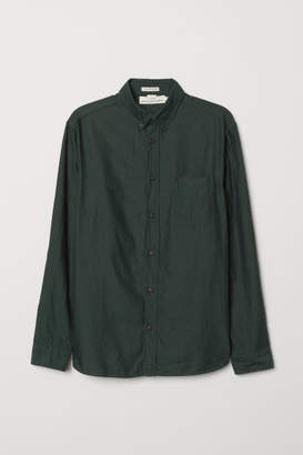 H&M Regular Fit Cotton Shirt - Green