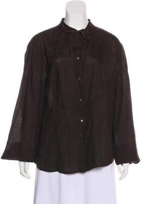 Max Mara Weekend Linen Button-Up Top