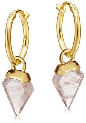 Missoma Shield 18ct Gold Vermeil Hoop Earrings